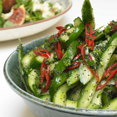 Cucumber, peppers & Chilli Salad