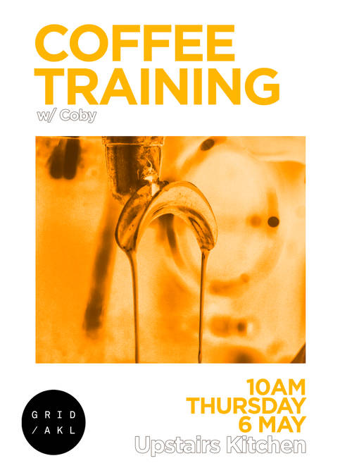 Coffee Training Poster May 2021