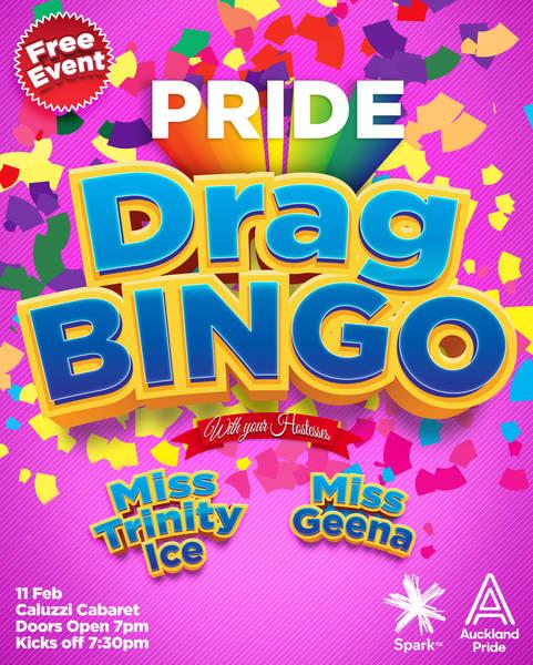 Pride Drag Bingo Poster Feb 2021