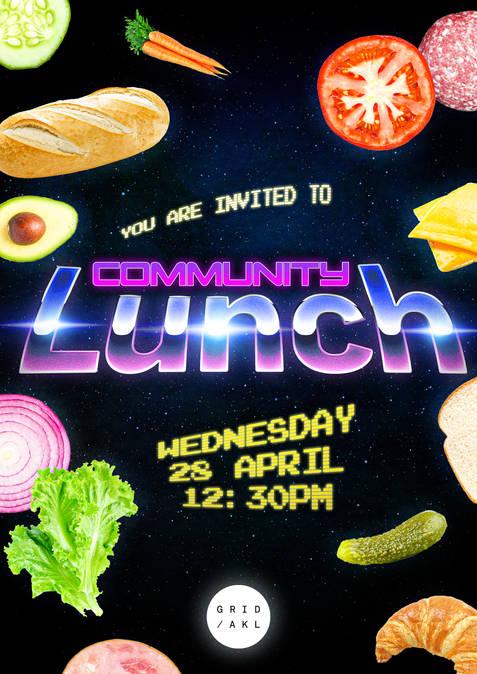 GridAKL Community Lunch Poster April 2021