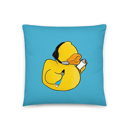 Stage Manager Duck Throw Pillow