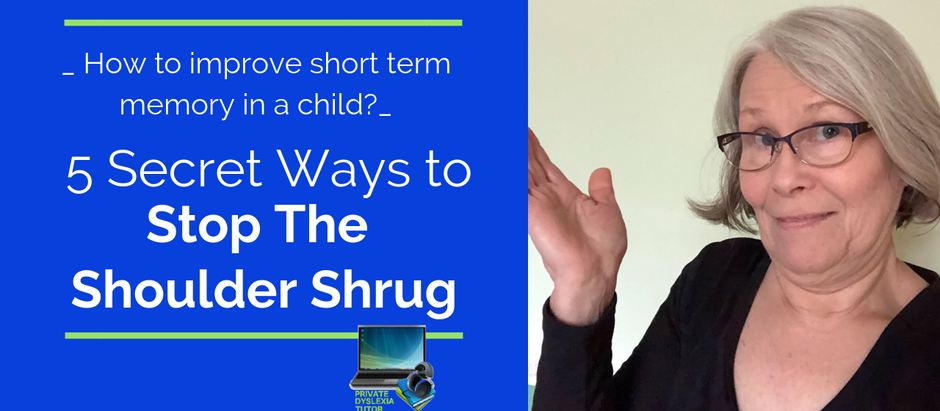 """""""How to Improve Short Term Memory in a Child"""" [5 Secret Ways to Stop the Shoulder Shrug]"""