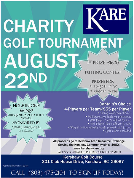 Flyer - KARE Charity Golf Tournament Aug