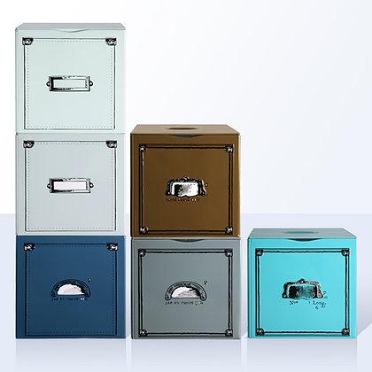 6 boîtes à thé tiroirs