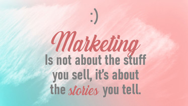 Marketing Is not about the stuff you sel