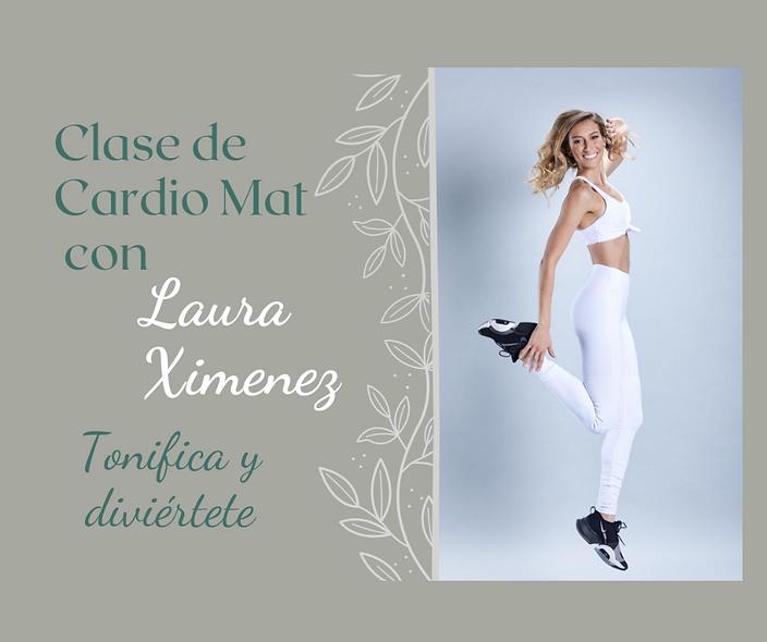 Clase de Cardio Mat con Laura Ximenez 11 de octubre