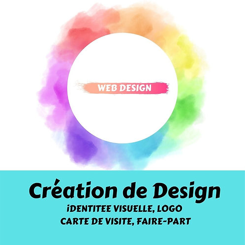 Création de Logo, Carte de visite, Faire-Part