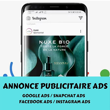 Publicité Google Ads, Snapchat, Facebook, Instagram, Taboola, Waze