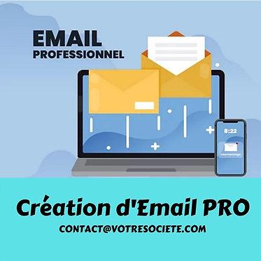 Création boite mail Professionnel