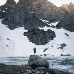 By the glacial lake