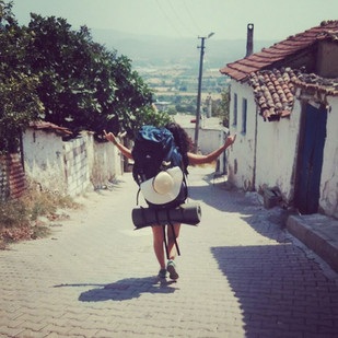 Back to her village