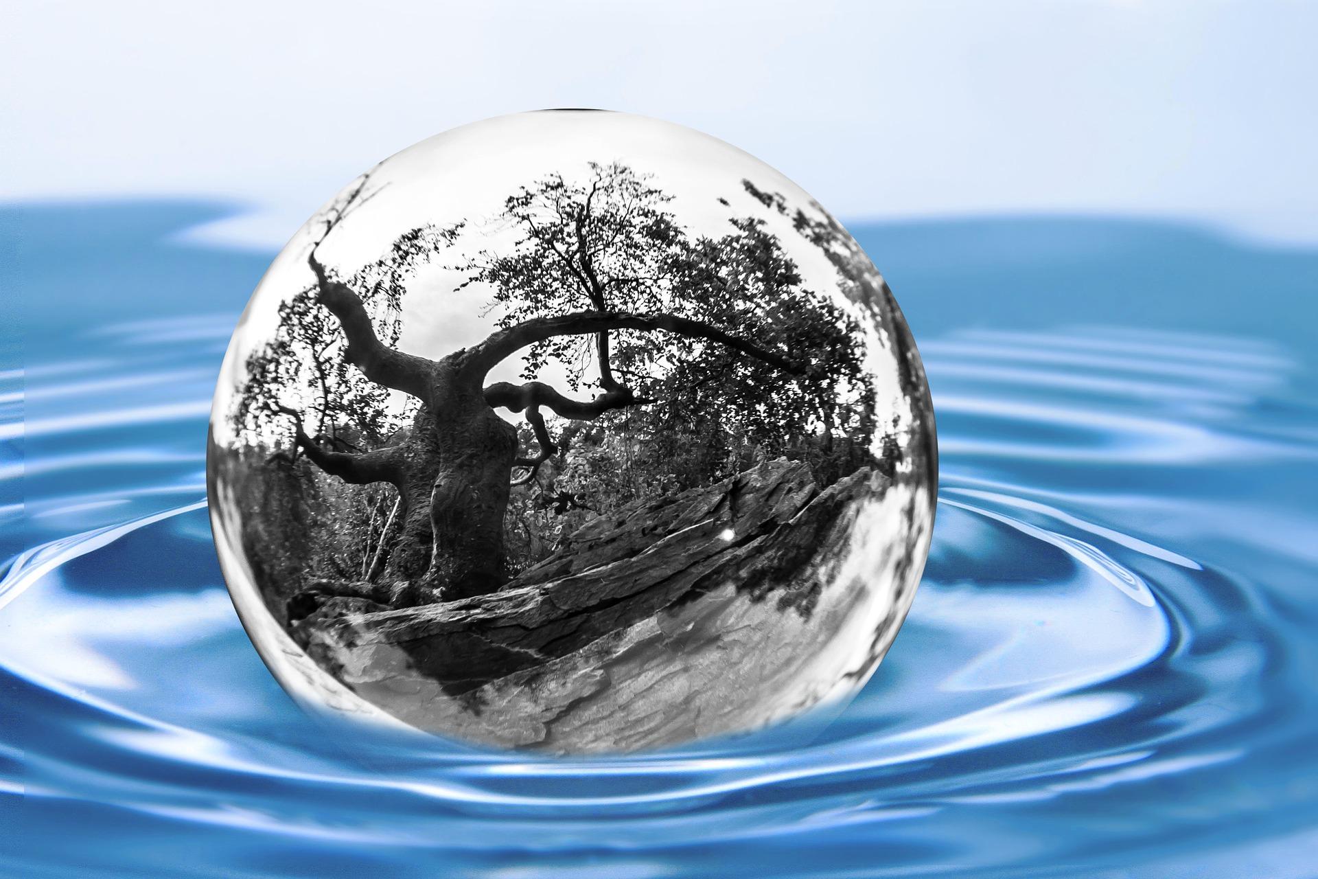 Schlank mit Wasser