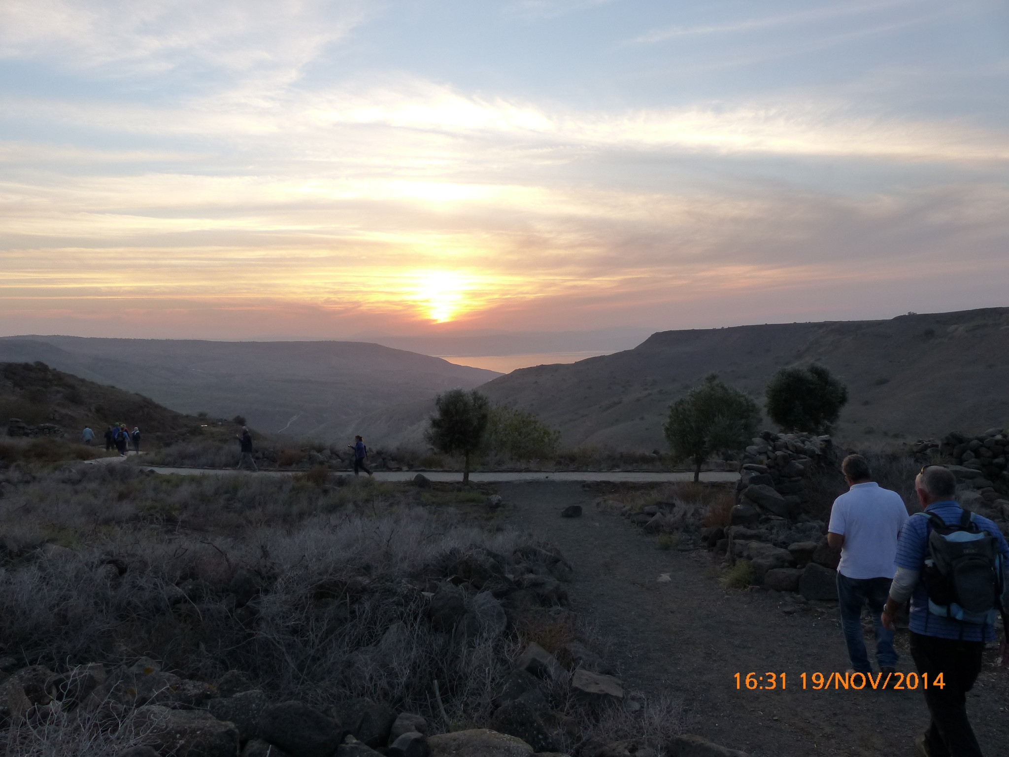 Sunset over the Golan