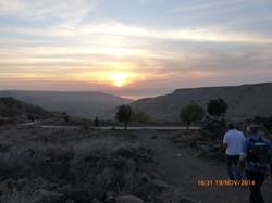 Sunset over the Golan