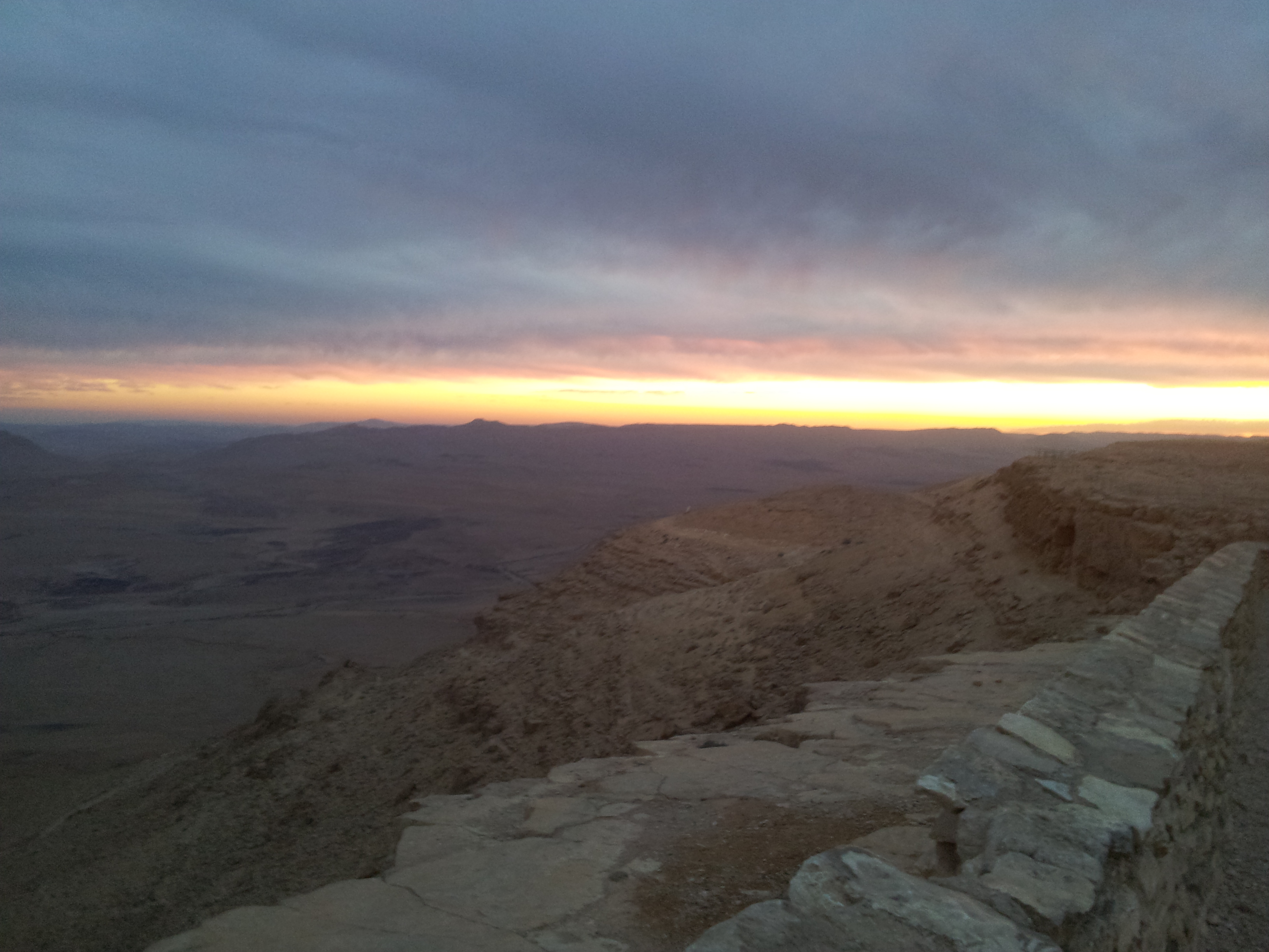 Sunset at Ramon Crater