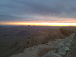 Sunset at Ramon Crater