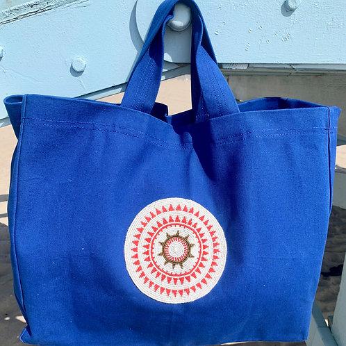 Sunkit Beach Bag blue red star