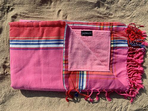 Sunkit Kikoy beach pink red