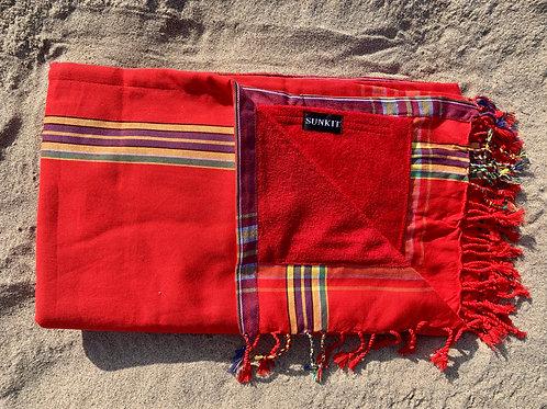 Sunkit Kikoy beach towel red