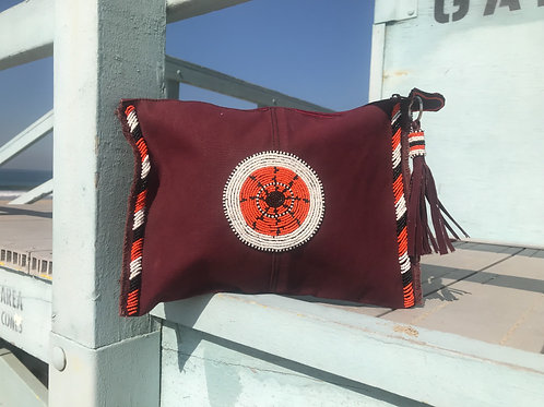 Sunkit Clutch orange burgundy