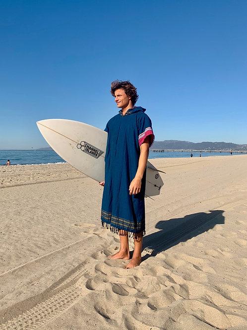 Sunkit Kikoy Surf Poncho changing dark navy