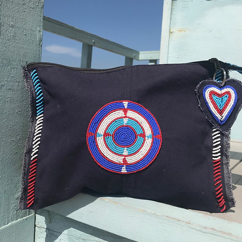 Sunkit Clutch navy circle