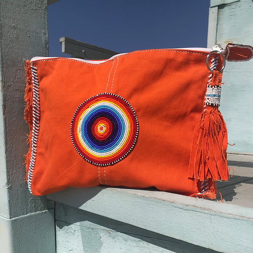Sunkit Clutch orange rainbow