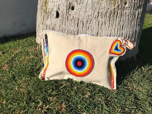 Sunkit Clutch off white rainbow
