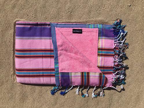 Sunkit Kikoy stripy purple pink