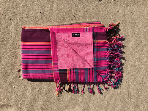 Sunkit Kikoy stripy pink blue