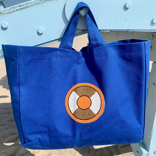 Sunkit Beach Bag blue orange