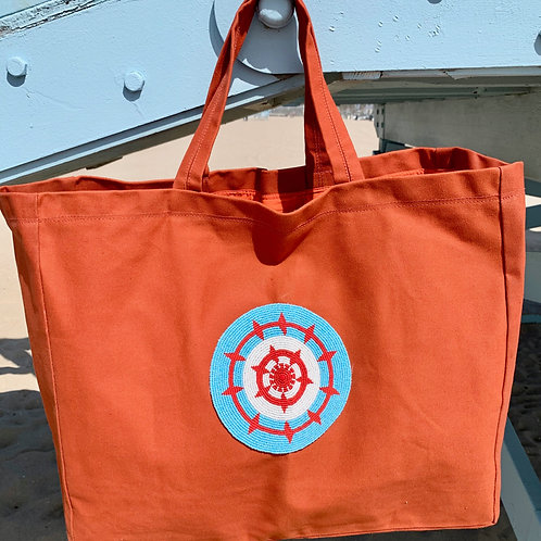 Sunkit Beach Bag orange turquoise sun