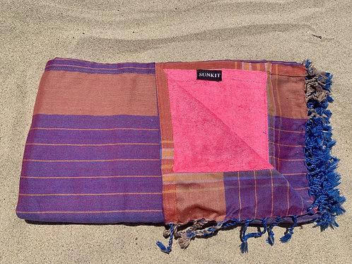 Sunkit Kikoy beach towel purple pink
