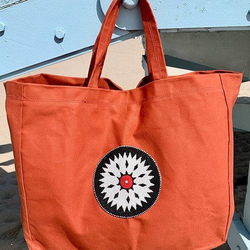 Sunkit Beach Bag orange black