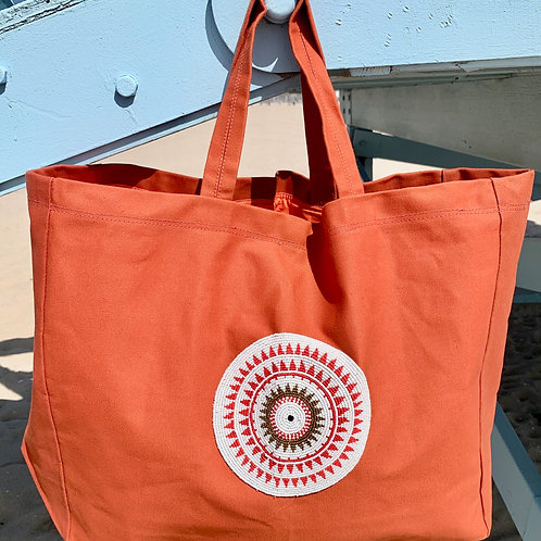Sunkit Beach Bag orange red sun
