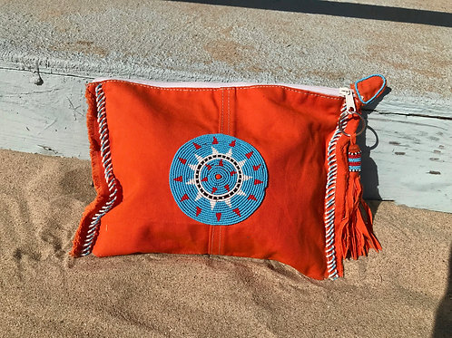 Sunkit Clutch orange turquoise