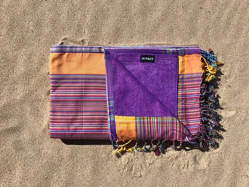 Sunkit Kikoy stripy purple