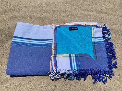 Sunkit Kikoy beach towel blue jeans