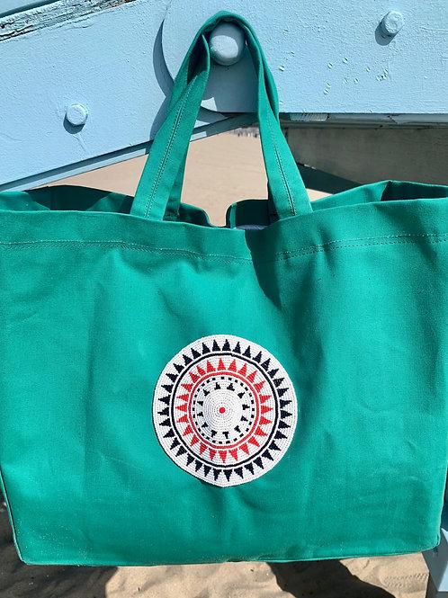 Sunkit Beach Bag green red