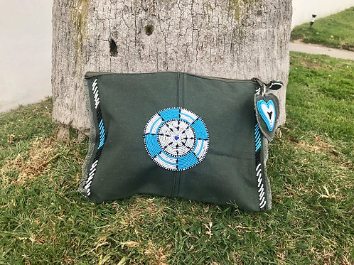 Sunkit Clutch olive turquoise