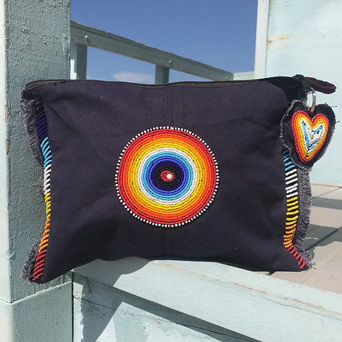 Sunkit Clutch navy rainbow