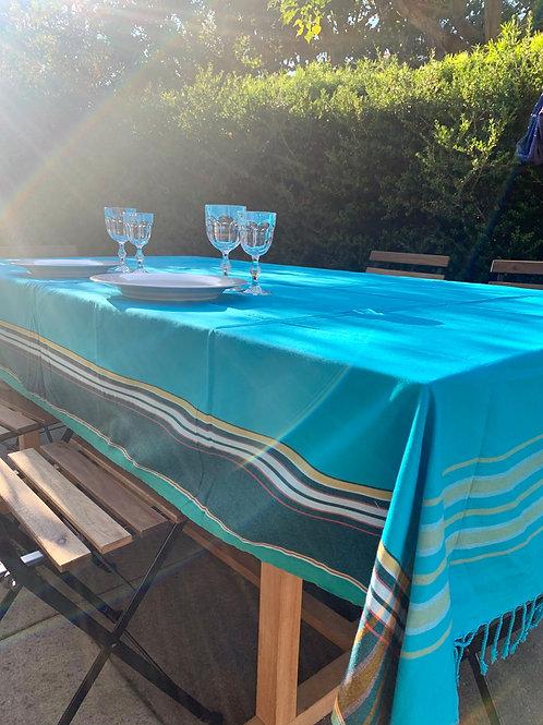 sunkit kikoy throw table cloth turquoise