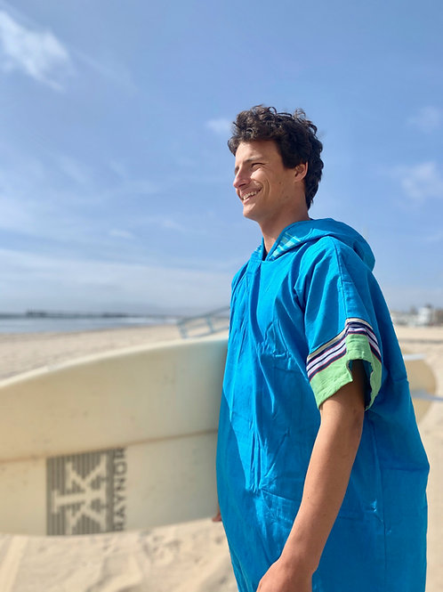 Sunkit Kikoy Surf Poncho changing blue green