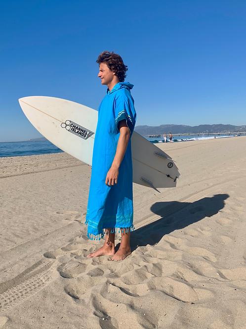 Sunkit Kikoy Surf Poncho changing turquoise