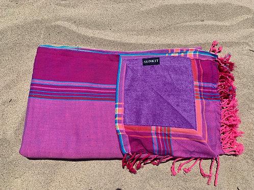 Sunkit Kikoy beach towel mauve