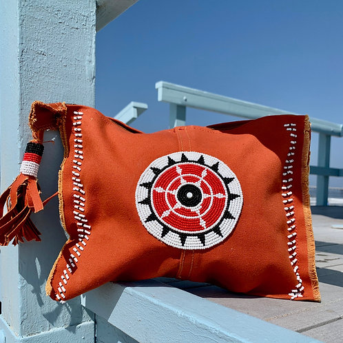 Sunkit Clutch orange black red