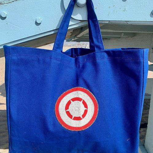 Sunkit Beach Bag blue red sun