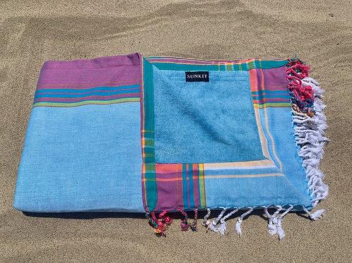 Sunkit Kikoy beach towel light blue