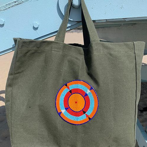 Sunkit Beach Bag khaki orange sun