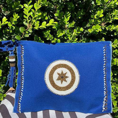 Sunkit Clutch blue star gold